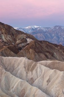 Free Overlook The Death Valley From Zabriskie Point Royalty Free Stock Image - 5965366