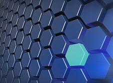 Free Glowing Hexagone. Royalty Free Stock Photo - 5965955