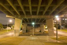 Free Highway Overpass At Night Royalty Free Stock Image - 5966046