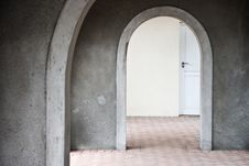Free Mysterious Door Seen Through Arches Stock Photo - 5966280