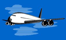 Free Airplane In Flight Royalty Free Stock Photo - 5966565