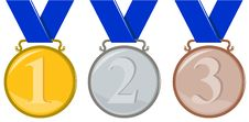 Free Olympic Medals Royalty Free Stock Photography - 5966777