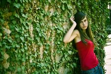 Free Woman On Wall Royalty Free Stock Image - 5967046