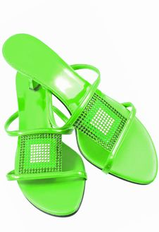 Free Sexy Green Shoes Royalty Free Stock Photography - 5968367