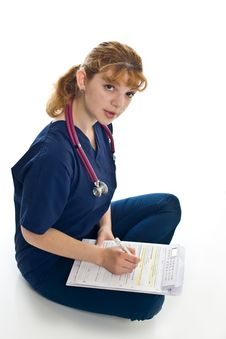 Free Young Female Doctor With Stethoscope Stock Photos - 5968553