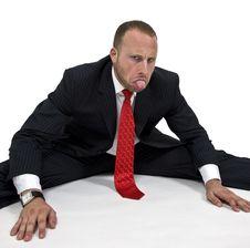 Free Man Stretching Legs Royalty Free Stock Photo - 5968655
