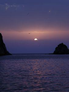 Free Palamarola Sunset Royalty Free Stock Photography - 5968927