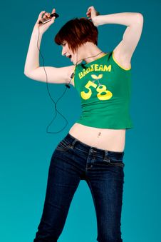 Free Dancing With My Mp3 Player Stock Photos - 5969323