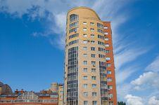 High Modern Brick Multistory Building