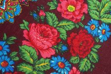 Free Oriental Shawl From Pavlov-Posad Stock Photography - 5969742