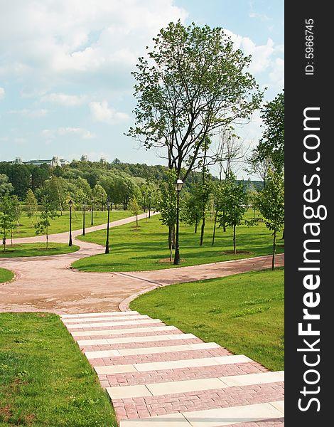 Well-groomed park