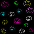 Free Neon Halloween Tile Royalty Free Stock Photography - 5970067