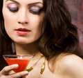 Free Woman With Glass Of Wine Royalty Free Stock Photos - 5970728