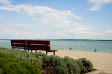 Free Bench By Shore Royalty Free Stock Photo - 5970095