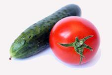 Free Tomato And Cucumber Stock Photo - 5970110
