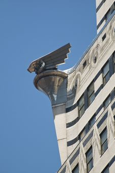 Free Chrystler Building Eagle Against Blue Sky Royalty Free Stock Photo - 5970405