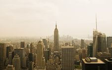 Free New York City From The Top Of The Rock Royalty Free Stock Photo - 5970595