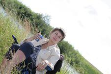 Free Girl In Picnic Stock Image - 5971281