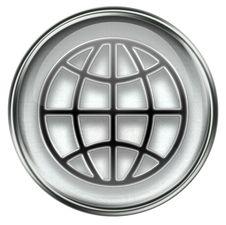 World Icon Grey Royalty Free Stock Photography