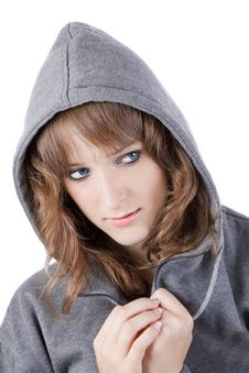 Free Pretty Girl With Hood Royalty Free Stock Photography - 5971737