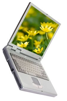 Free Laptop Computer Isolated On White Stock Image - 5971761