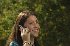 Free Girl On Cell Phone Royalty Free Stock Photo - 5972025