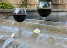 Free Wine And Pool Stock Images - 5972064