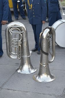 Free Brass Wind Tubas Royalty Free Stock Image - 5972216