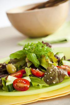 Free Side Salad Royalty Free Stock Photography - 5973017