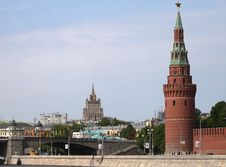View On Kremlin Quay And Bolshoi Kamenny Bridge Stock Photography