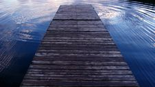 Free Dock Over The Water Royalty Free Stock Image - 5973646