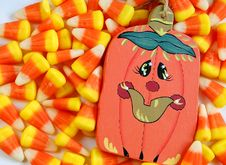 Free Candy Corn And Pumpkin Stock Photos - 5973953