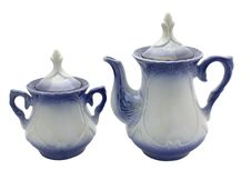 Free Teapot And Sugar Bowl Royalty Free Stock Photography - 5974027