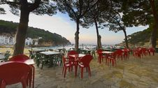 Free Mediterranean Beachside Restaurant Terrace Stock Images - 5974914