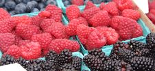 Free Raspberries And Blackberries Royalty Free Stock Photography - 5975117