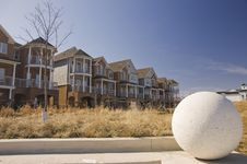 Free New Houses And Concrete Ball Stock Photo - 5975160