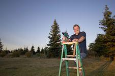 Free Man On Ladder - Horizontal Stock Photos - 5975333