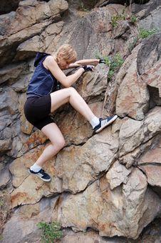 Free Girl Climbing Up Stock Photo - 5976650