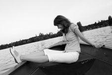 Free Girl On The Boat Stock Photos - 5977533