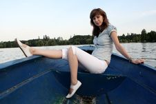 Free Girl On The Boat Royalty Free Stock Photo - 5977555