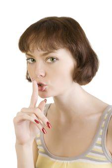 Free Hush, Secret Royalty Free Stock Image - 5978486