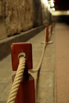 Free Rope Barrier Royalty Free Stock Photos - 5978728