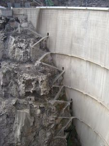 Free Stairs Behind Dam Stock Photo - 5978810