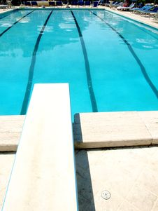 Free Pool And Diving Board Stock Image - 5979461