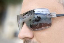 A Reflection In The Sunglasses Royalty Free Stock Images