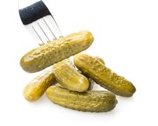 Free Pickled Gherkins Royalty Free Stock Photography - 5979677