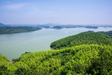 Free From The Top Of The Hill Overlooking The Tianmu Lake Royalty Free Stock Photography - 59746307