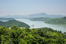 Free From The Top Of The Hill Overlooking The Tianmu Lake Royalty Free Stock Photo - 59746365