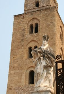 Cathedral Of Cefalu (Sicily) Stock Photography