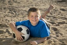 Free Boy Playing On The Beach Royalty Free Stock Photo - 5980925